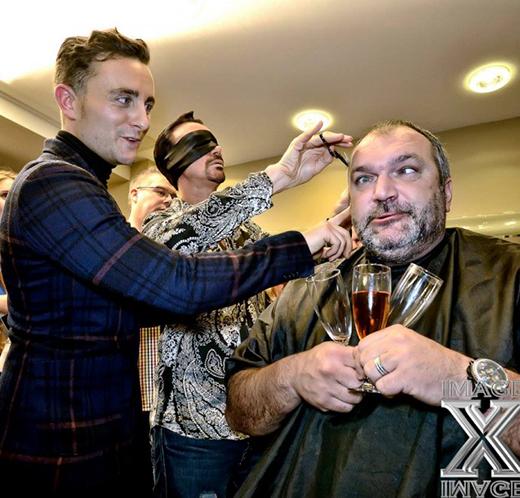 Celebrity Big Brothers Razor Ruddock braves blindfolded haircut by Stuart Phillips