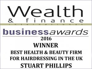 Winning 'Best Health & Beauty Firm 2016' in the UK for hairdressing