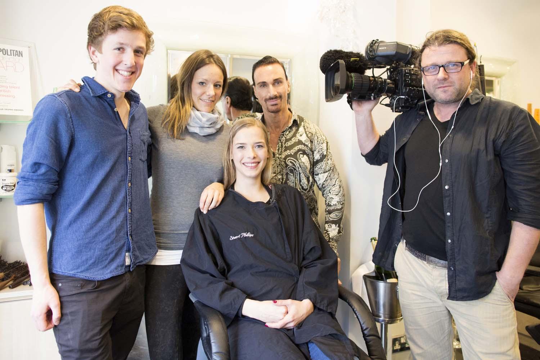 Galileo TV crew and me.