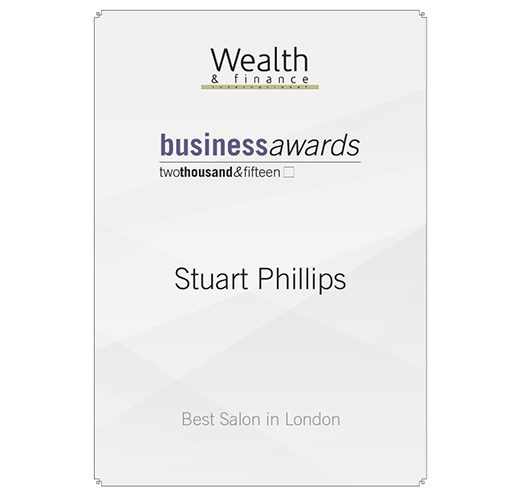 Stuart Phillips Salon Has Won Best Salon in London Twice in 2015