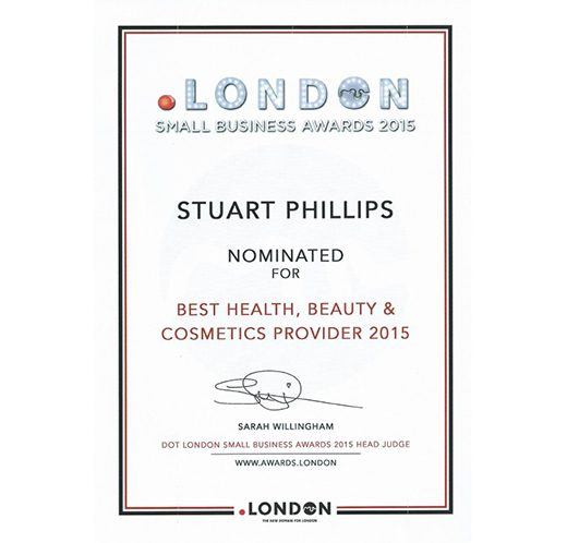 Stuart Phillips Salon Nominated For Dot London Awards 2015
