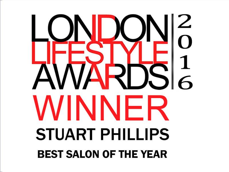 Stuart Phillips best salon of the year london lifestyle awards 2016