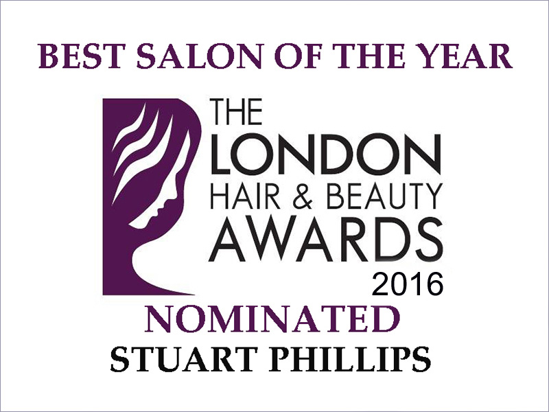 NOMINATED FOR 'BEST LONDON SALON OF THE YEAR' AT THE LONDON HAIR & BEAUTY AWARDS 2016