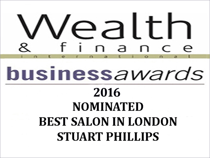 NOMINATED FOR 'BEST SALON IN LONDON' AT THE WEALTH & FINANCE INTERNATIONAL BUSINESS AWARDS 2016