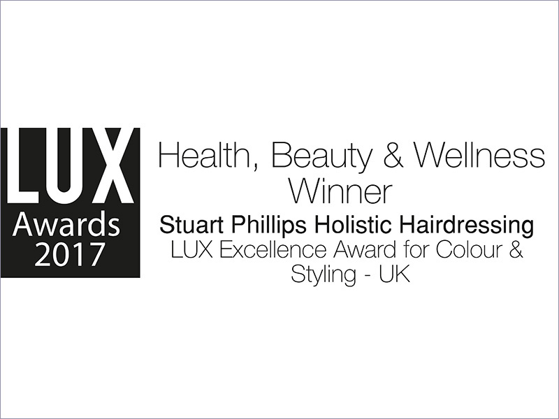 "WINNER OF THE ""LUX EXCELLENCE AWARD FOR COLOUR & STYLING - UK"" AT THE LUX 2017 AWARDS"