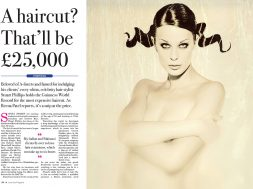 "Luxurious Magazine - ""A haircut? That'll be £25,000"" / Page 1"