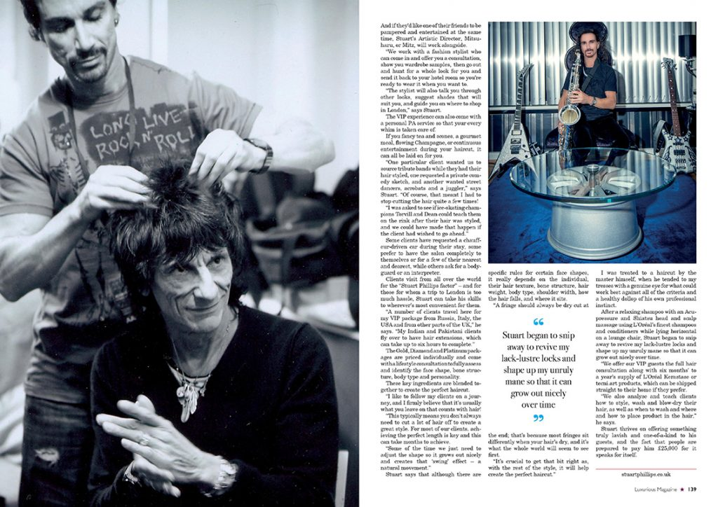 "Luxurious Magazine - ""A haircut? That'll be £25,000"" / Page 3"