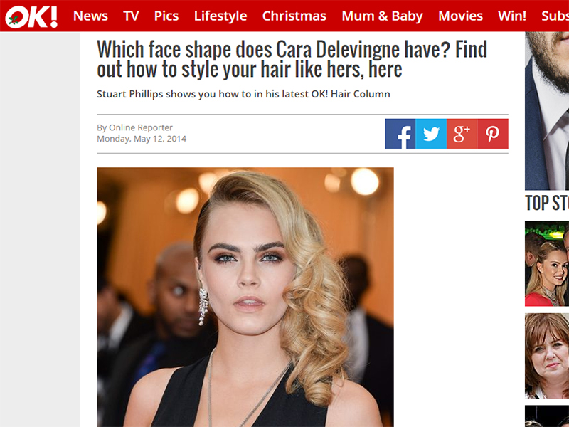 Which face shape does Cara Delevingne have? Find out how to style your hair like hers, here