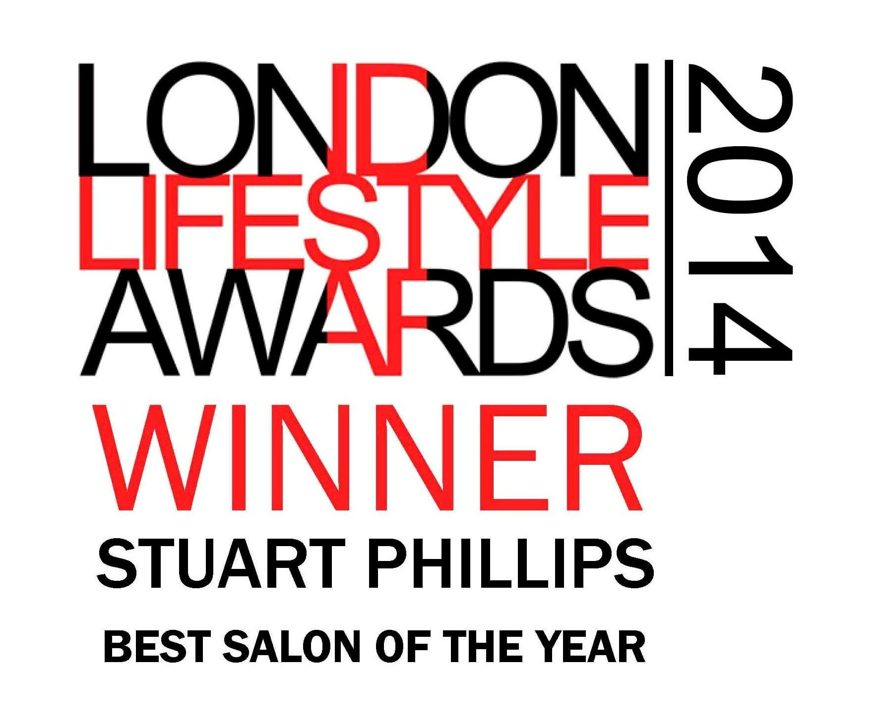 Stuart Phillips has won best salon in London at the London Lifestyle Awards 2014