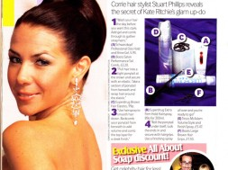 Corrie hair stylist Stuart Philips reveals the secret of Kate Ritchie`s glam up-do