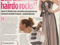 Liberty X`s Michelle Scott-Lee had the most expensive ever hairstyle for the Bafta TV Awards – using 80 diamonds