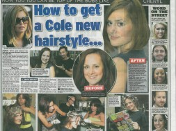 Cheryl Cole`s new haircut