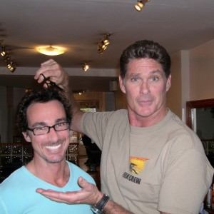 David Hasselhoff Trying to Cut Stuart Phillips Hair