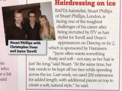 "BAFTA hairstylist Stuart Phillips is facing one of the toughest challenges of his career after being recruited by ITV as hair stylist for Torvill and Dean`s appearances on ""Dancing on Ice 2"""