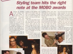 Styling team hits the right note at the MOBO awards