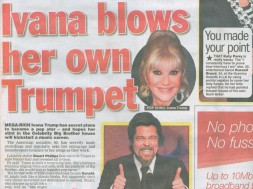 Celebrity stylist Stuart Phillips flew out to St Tropez to style Ivana`s Trump hair and revealed all to Goss.