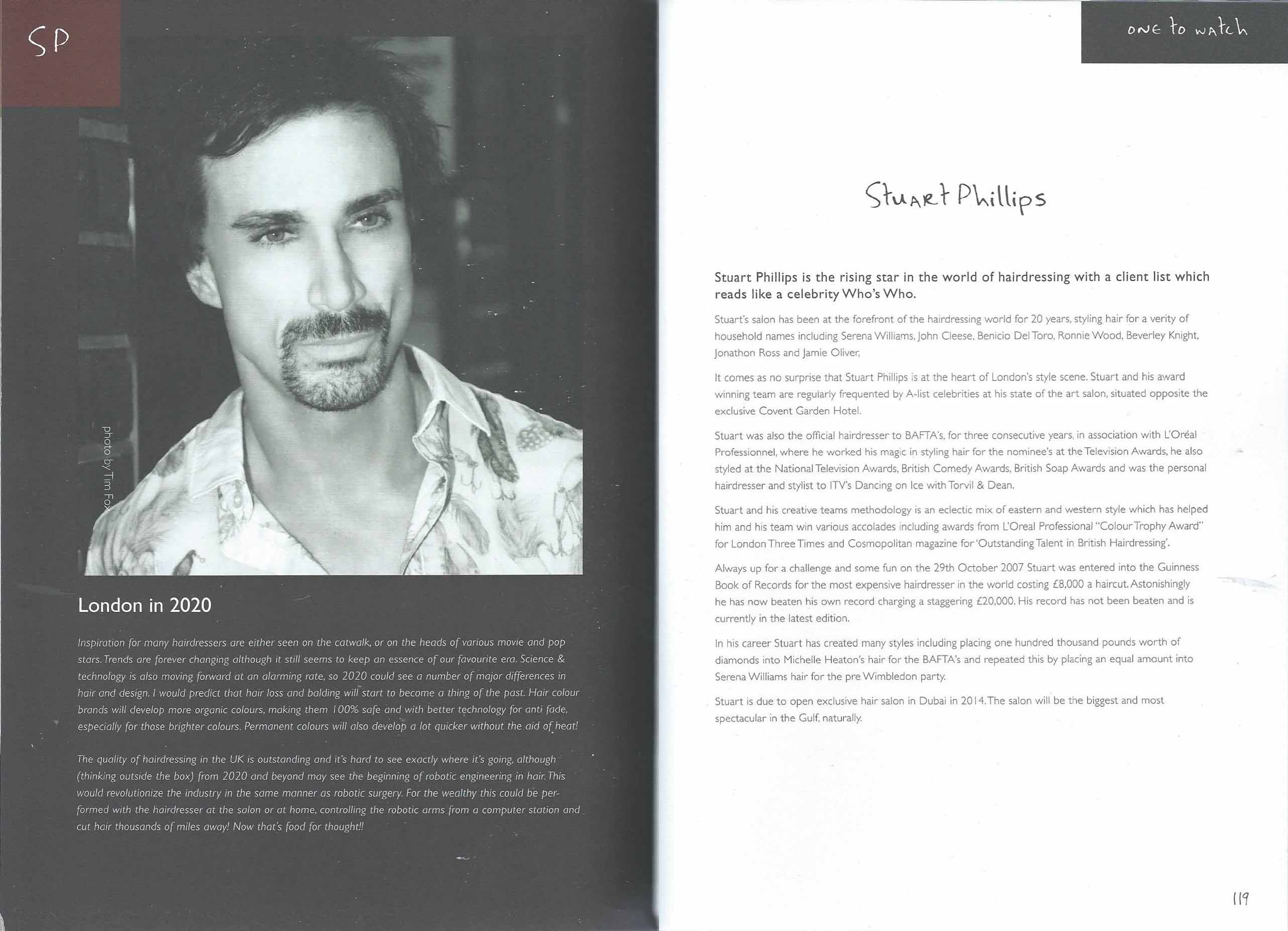 Stuart Phillips - London Key Lifestyle Influencers, the fifty - The New Book