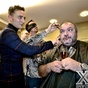 Razor Ruddocks Blindfolded Haircut Sponsored By OK Magazine