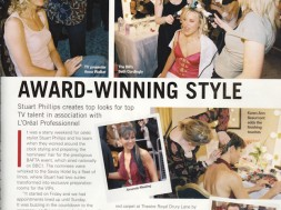 Stuart Phillips creates top looks for top TV talent in association with L`Oreal Professionnel