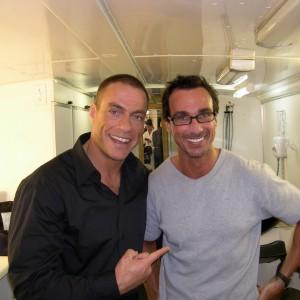 Styled Jean Claude Van Dammes Hair Movie Set in Cape Town