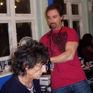 Styled Ronnie Woods Hair for his Gig at The Ambassadors Theatre London
