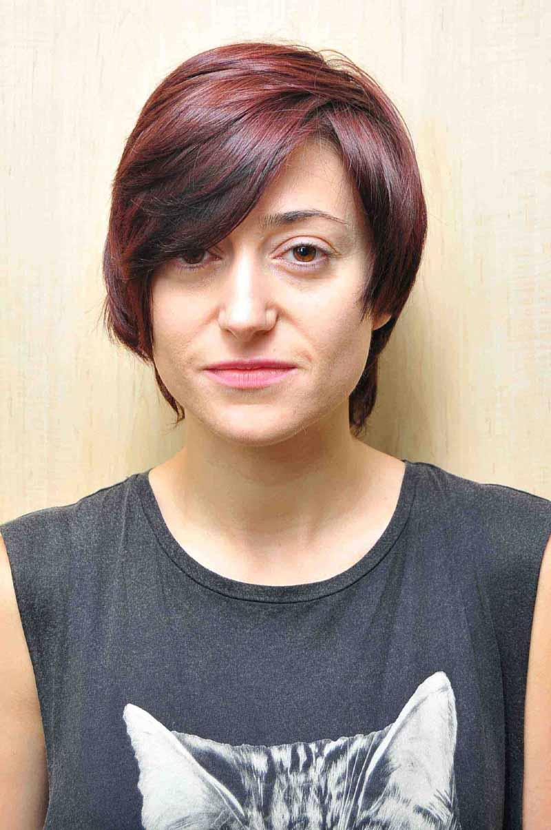 Pixie haircut makeover similar to carey mulligan michelle before photograph of model aleksandra trepka urmus Choice Image