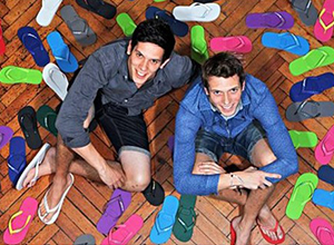 Radio presenter Stuart Phillips from Guess Radio tells the amazing story of Rob & Paul Forkan - two brothers who survived a tsunami - to the success of their brand Gandys Flip Flops!