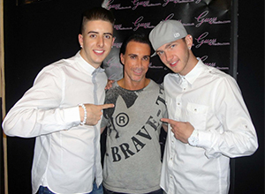 Radio presenter Stuart Phillips from Guess Radio interviews the talented street dancers Twist & Pulse, seen by millions on Britain's Got Talent!