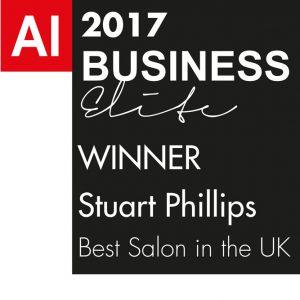 STUART PHILLIPS WINS BEST SALON IN THE UK 2017