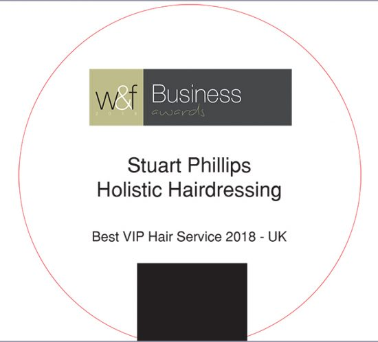 W&F Business 2018 Awards Best VIP Hair Service 2018